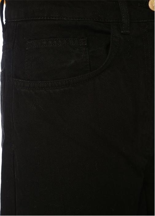 Gemma Siyah Yüksek Bel Bol Paça Jean Pantolon
