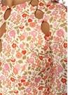 Goldie Çiçekli Kesim Detaylı Mini KetenElbise
