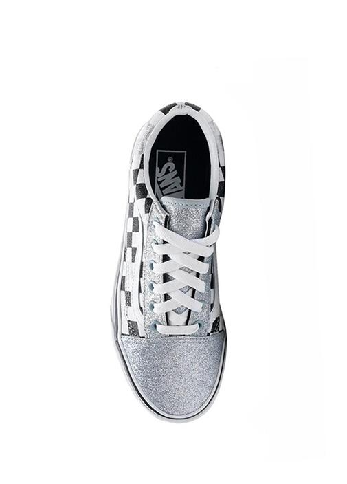 Glitter Checkerboard Old Skool Çocuk Sneaker
