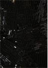 Wien Siyah Straplez İşlemeli Mini Kokteyl Elbise