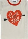 Rhiannon Beyaz Kız Çocuk Organik Pamuklu T-shirt