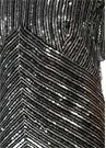 Silver İşlemeli Sırt Detaylı Maksi Abiye Elbise