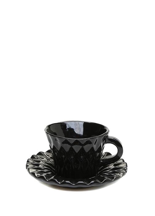 Siyah Porselen Kahve Fincanı