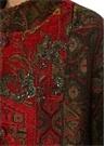 Camila Dik Yaka İşlemeli Etnik Desenli Palto