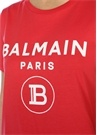 Kırmızı Logolu Omzu Düğmeli T-shirt