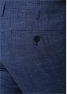 Mavi Normal Bel Silik Çizgili Yün Pantolon