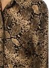 Serpent Yılan Derisi Desenli Midi Gömlek Elbise