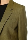 Jaffa Siyah Yeşil Kazayağı Desenli Yün Ceket