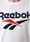 Classic Beyaz Logo Baskılı Basic T-shirt