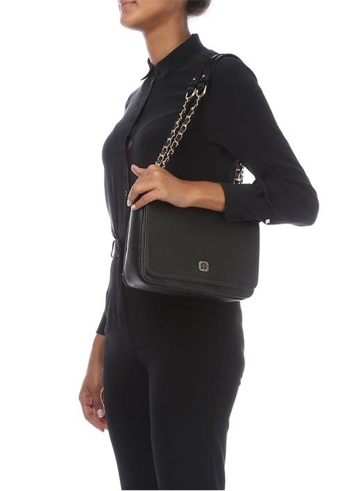 Siyah Dokulu Kadın Çanta