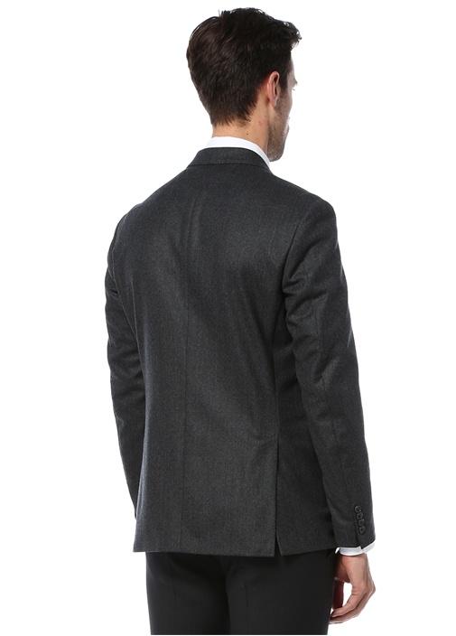 8 Drop Slim Fit Füme Astarsiz Yün Ceket