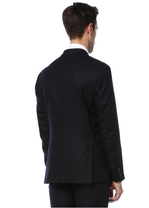 8 Drop Slim Fit Lacivert Astarsiz Yün Ceket