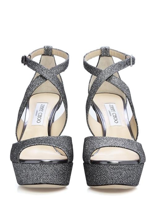 April Silver Platformlu Kadın Gece Ayakkabısı