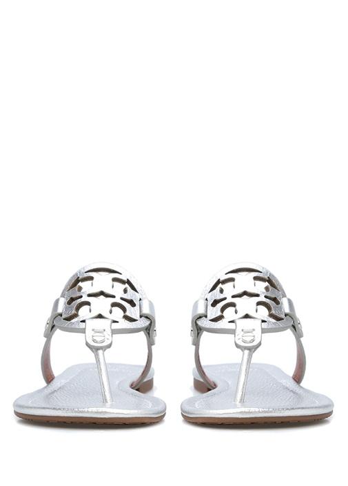 Silver Logolu Kadın Deri Terlik