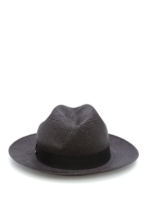 Siyah Kalın Bantlı Erkek Şapka