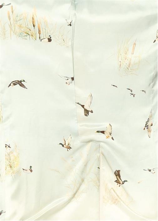 Kırık Beyaz Pike Dokulu Blazer Ceket