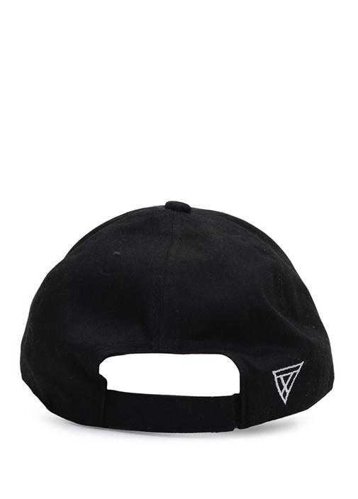 Siyah Yazı Nakışlı Erkek Şapka