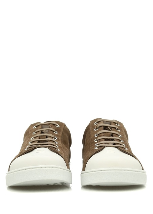 Low Top Deri Bej Erkek Sneaker