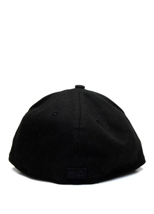 Siyah Kamuflaj Desen Detaylı Erkek Şapka