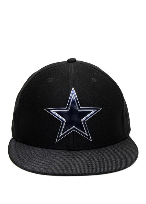 Siyah Yıldız Nakışlı Logo Patchli ErkekŞapka