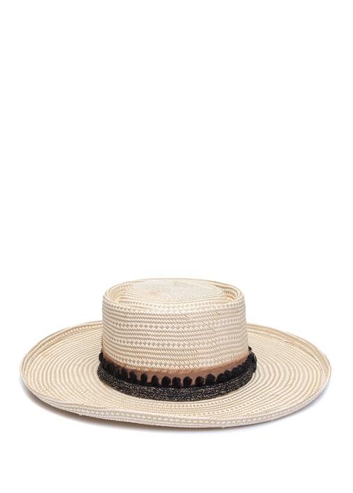 Beyaz Bant Detaylı Kadın Şapka