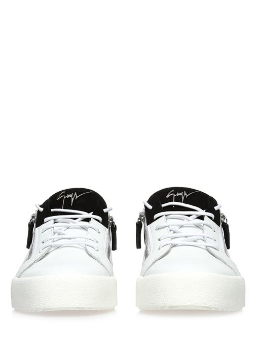 Frankie Beyaz Deri Erkek Sneaker