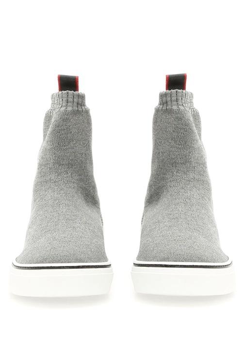 George V Gri Bilekli Çorap Erkek Sneaker