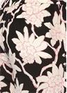 Siyah Beyaz Çiçekli Bol Paça İpek Pantolon