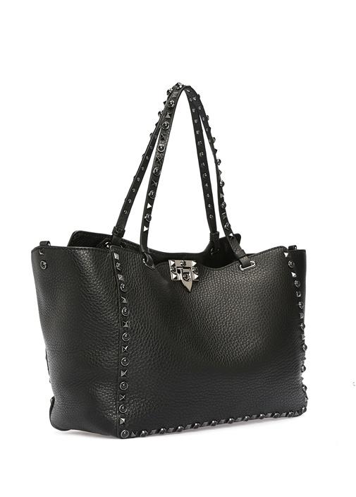Valentino Garavani Siyah Rockstud KadınDeri Çanta