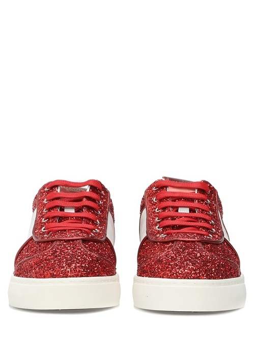 Valentino Garavani Kırmızı Simli Kadın Sneaker