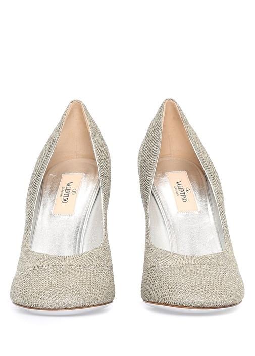 Valentino Garavani File Dokulu Topuklu Ayakkabı