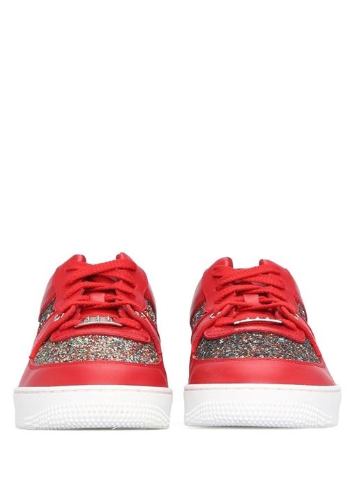 Glam Slam Kırmızı Deri Kadın Sneaker