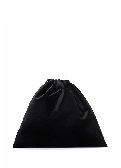 Siyah Kadife Omuz Çantası
