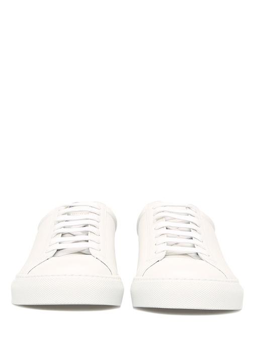 Mavi Beyaz Deri Kadın Sneaker