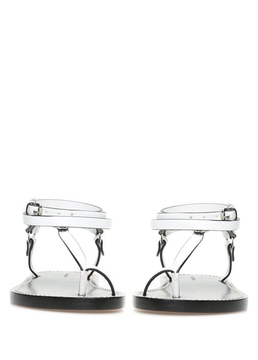 Joxxy Beyaz Deri Kadın Sandalet