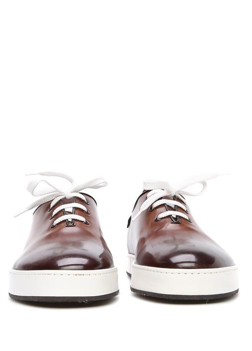 Kahverengi Deri Erkek Sneaker