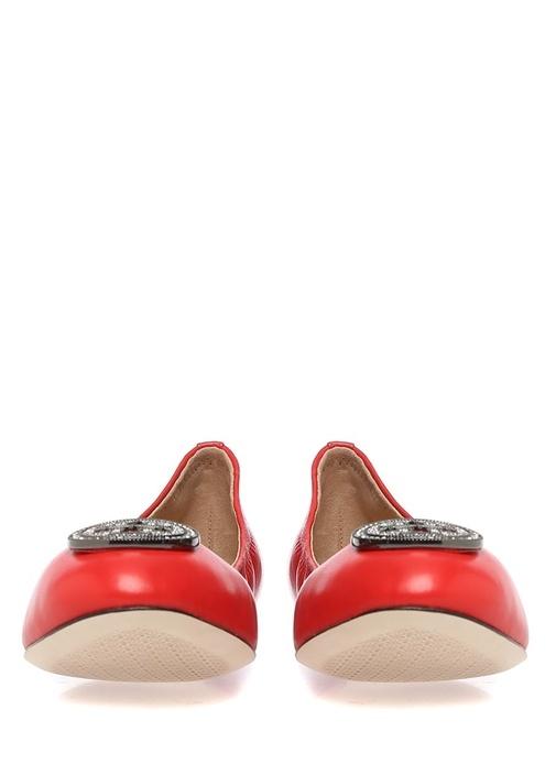 Kırmızı Liana Deri Babet