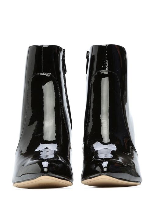 Siyah Rugan Topuklu Kadın Bot