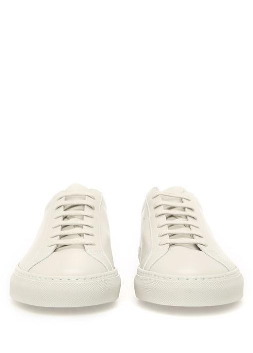 Achilles Low Top Deri Bej Erkek Sneaker