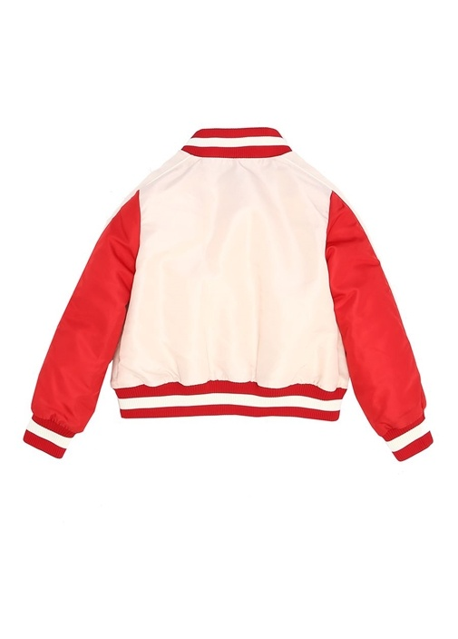 Camillia Kırmızı Şerit Detaylı Kız Çocuk Mont