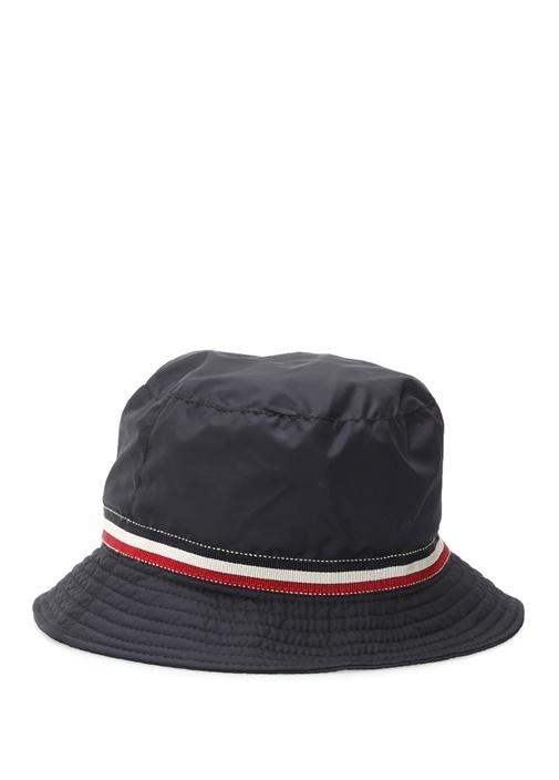 Lacivert Şerit Detaylı Logolu Erkek Çocuk Şapka