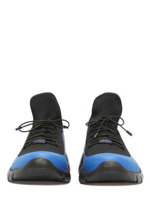 High Tops İn Technical Knit Mavi Erkek Sneaker