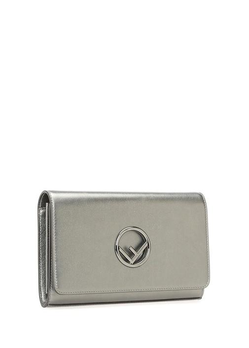 Silver Logolu Kadın Deri El Portföyü