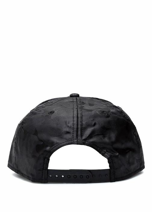 Siyah Nakışlı Kamuflaj Desenli Erkek Şapka