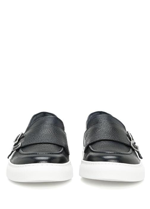 Clıff Lacivert Deri Erkek Sneaker