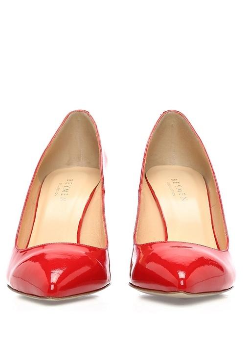 Kırmızı Rugan Topuklu Ayakkabı