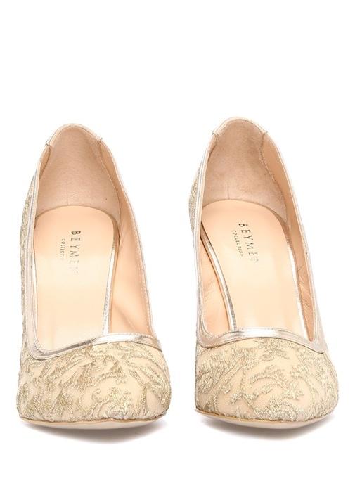 Altın Rengi Deri Gece Ayakkabısı