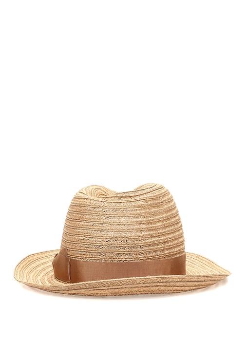 Bej Bant Detaylı Erkek Şapka