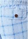 Beyaz Mavi Diagonal Çizgi Desenli Mayo