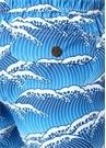 Lacivert Mavi Dalga Desenli Mayo